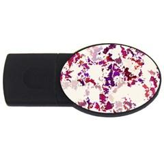 Splatter White Usb Flash Drive Oval (2 Gb)  by MoreColorsinLife