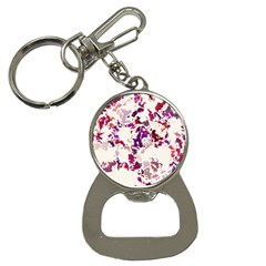 Splatter White Bottle Opener Key Chains by MoreColorsinLife