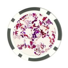 Splatter White Poker Chip Card Guards by MoreColorsinLife