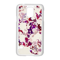 Splatter White Samsung Galaxy S5 Case (white) by MoreColorsinLife