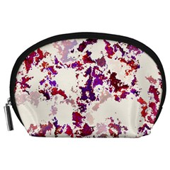 Splatter White Accessory Pouches (large)  by MoreColorsinLife