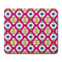 Honeycomb In Rhombus Pattern Large Mousepad by LalyLauraFLM
