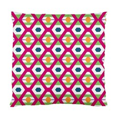 Honeycomb In Rhombus Pattern Standard Cushion Case (two Sides) by LalyLauraFLM