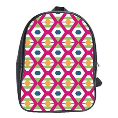 Honeycomb in rhombus pattern School Bag (Large) by LalyLauraFLM
