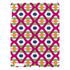 Honeycomb In Rhombus Pattern Apple Ipad 3/4 Hardshell Case by LalyLauraFLM