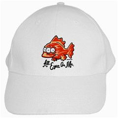 Blink White Baseball Cap by sketchnkustom