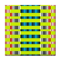 Rectangles And Vertical Stripes Pattern Face Towel by LalyLauraFLM