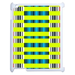 Rectangles And Vertical Stripes Pattern Apple Ipad 2 Case (white) by LalyLauraFLM