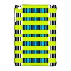 Rectangles and vertical stripes pattern Apple iPad Mini Hardshell Case (Compatible with Smart Cover) by LalyLauraFLM