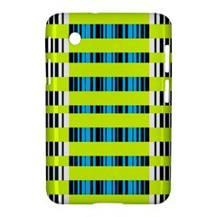 Rectangles And Vertical Stripes Pattern Samsung Galaxy Tab 2 (7 ) P3100 Hardshell Case  by LalyLauraFLM
