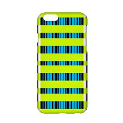 Rectangles And Vertical Stripes Pattern Apple Iphone 6 Hardshell Case by LalyLauraFLM