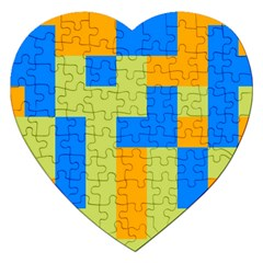 Tetris Shapes Jigsaw Puzzle (heart) by LalyLauraFLM