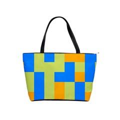 Tetris Shapes Classic Shoulder Handbag by LalyLauraFLM