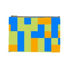 Tetris Shapes Cosmetic Bag (large) by LalyLauraFLM