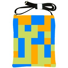 Tetris Shapes Shoulder Sling Bag