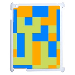 Tetris Shapes Apple Ipad 2 Case (white) by LalyLauraFLM