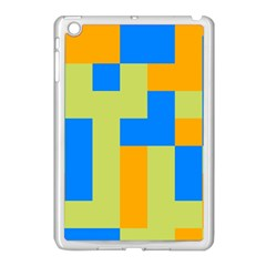 Tetris Shapes Apple Ipad Mini Case (white) by LalyLauraFLM