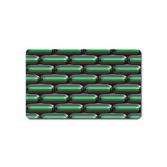 Green 3d Rectangles Pattern Magnet (name Card) by LalyLauraFLM