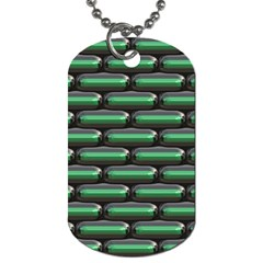 Green 3d Rectangles Pattern Dog Tag (one Side) by LalyLauraFLM