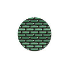 Green 3d Rectangles Pattern Golf Ball Marker (10 Pack) by LalyLauraFLM