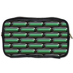 Green 3d Rectangles Pattern Toiletries Bag (one Side) by LalyLauraFLM