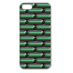 Green 3d Rectangles Pattern Apple Seamless Iphone 5 Case (clear) by LalyLauraFLM