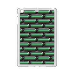 Green 3d Rectangles Pattern Apple Ipad Mini 2 Case (white) by LalyLauraFLM