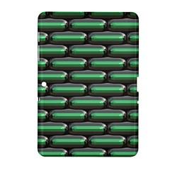Green 3D rectangles pattern Samsung Galaxy Tab 2 (10.1 ) P5100 Hardshell Case  by LalyLauraFLM