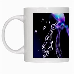Orca With Glowing Line Jumping Out Of A Circle Mad Of Water White Mugs by FantasyWorld7
