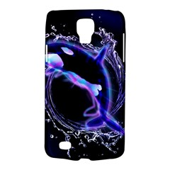 Orca With Glowing Line Jumping Out Of A Circle Mad Of Water Galaxy S4 Active by FantasyWorld7