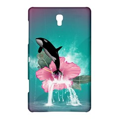 Orca Jumping Out Of A Flower With Waterfalls Samsung Galaxy Tab S (8 4 ) Hardshell Case  by FantasyWorld7