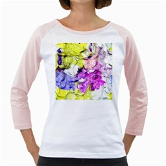 Strange Abstract 2 Soft Girly Raglans by MoreColorsinLife