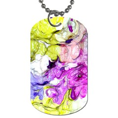 Strange Abstract 2 Soft Dog Tag (two Sides) by MoreColorsinLife