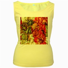 Strange Abstract 3 Women s Yellow Tank Tops by MoreColorsinLife