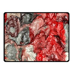 Strange Abstract 3 Double Sided Fleece Blanket (Small)  by MoreColorsinLife