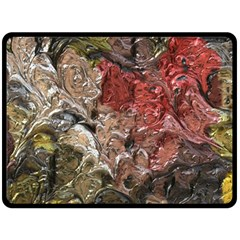 Strange Abstract 5 Fleece Blanket (large)  by MoreColorsinLife