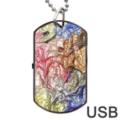 Strange Abstract 6 Dog Tag Usb Flash (one Side) by MoreColorsinLife