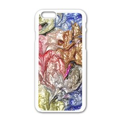 Strange Abstract 6 Apple Iphone 6/6s White Enamel Case