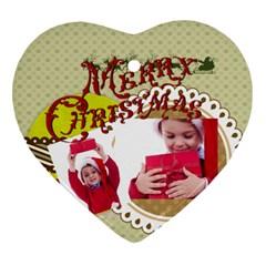 Xmas By Joy   Heart Ornament (two Sides)   Fm5rhnyd8s5d   Www Artscow Com Back
