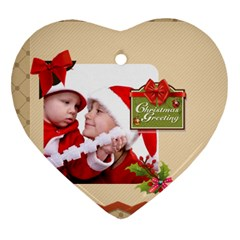 Xmas By Joy   Heart Ornament (two Sides)   Rigejdjjpuft   Www Artscow Com Front