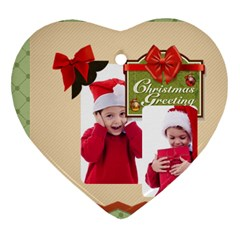Xmas By Joy   Heart Ornament (two Sides)   Rigejdjjpuft   Www Artscow Com Back