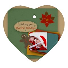 Xmas By Joy   Heart Ornament (two Sides)   Ojep0tvmi067   Www Artscow Com Front