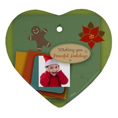Xmas By Joy   Heart Ornament (two Sides)   Ojep0tvmi067   Www Artscow Com Back