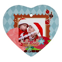 Xmas By Joy   Heart Ornament (two Sides)   7d1itxhcdj29   Www Artscow Com Front