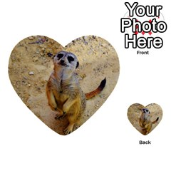 Lovely Meerkat 515p Multi Purpose Cards (heart)