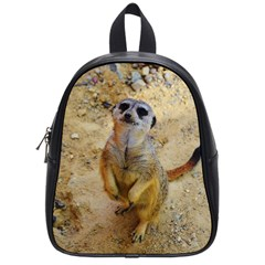 Lovely Meerkat 515p School Bags (small)  by ImpressiveMoments
