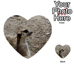 Adorable Meerkat Multi Purpose Cards (heart)  by ImpressiveMoments