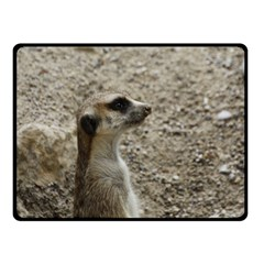 Adorable Meerkat Double Sided Fleece Blanket (small)  by ImpressiveMoments