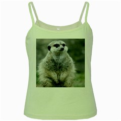 Adorable Meerkat 03 Green Spaghetti Tanks by ImpressiveMoments