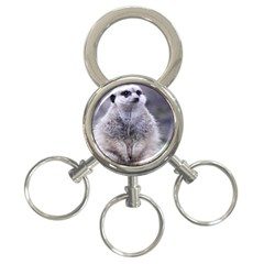 Adorable Meerkat 03 3 Ring Key Chains by ImpressiveMoments